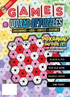 Games World of Puzzles – October 2016