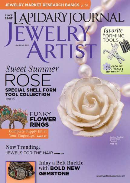 Lapidary Journal Jewelry Artist – August 2015 USA