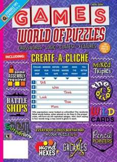 Games World of Puzzles – April 2016