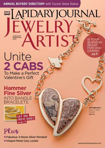 Lapidary Journal Jewelry Artist – January/February 2016