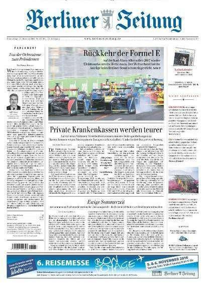 NEWSPAPERS IN GERMAN: 27 Oktober 2016