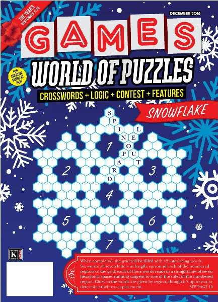 Games World of Puzzles – December 2016