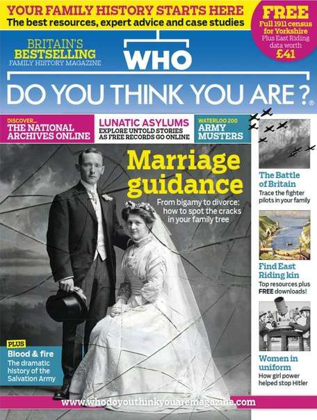 Who Do You Think You Are – July 2015