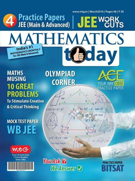 Mathematics Today – March 2016