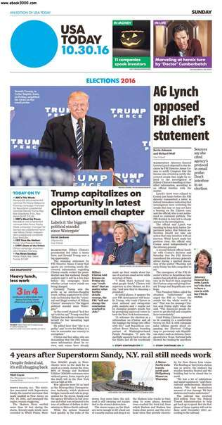 USA Today October 30 2016