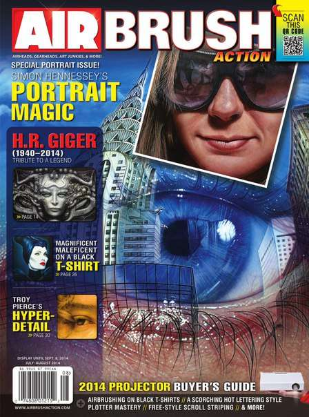 Airbrush Action – July/August 2014.