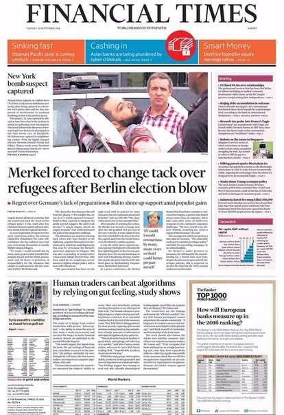 Financial Times Europe – September 20, 2016