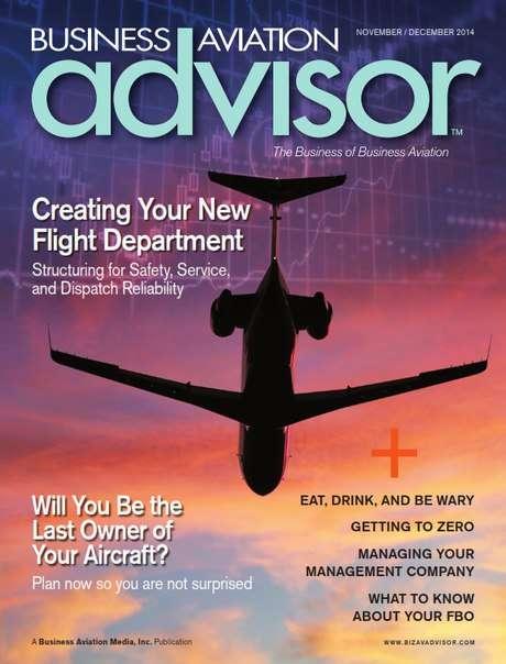 Business Aviation Advisor – November/December 2014