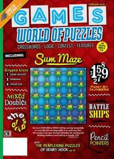 Games World of Puzzles 2016 February