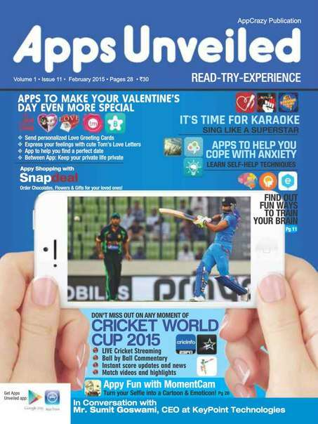 Apps Unveiled, Volume 1 Issue 11 – February 2015