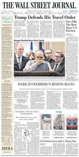 The Wall Street Journal Europe January 31 2017