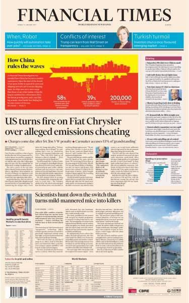 Financial Times Europe – 13 January 2017