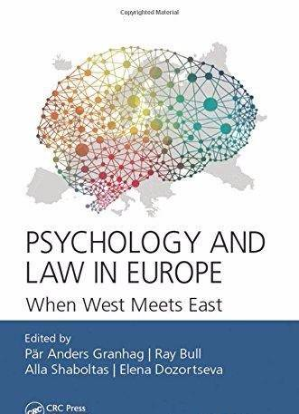 Psychology and Law in Europe: When West Meets East (January 2017)