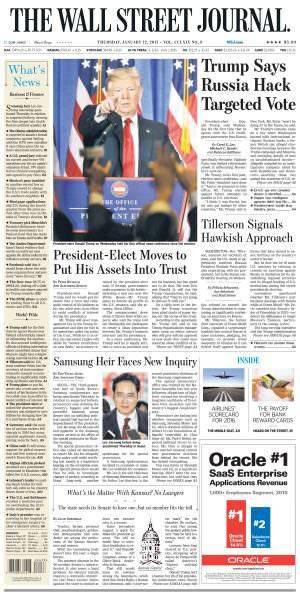 The Wall Street Journal – January 12, 2017