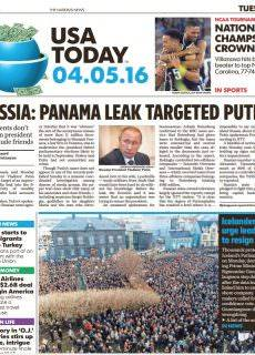 USA Today – April 05, 2016