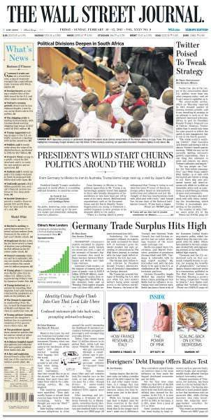 The Wall Street Journal Europe February 10 2017