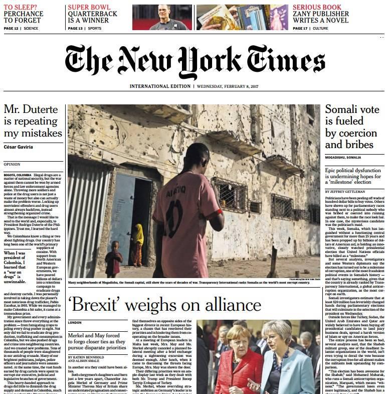 International New York Times 8 February 2017