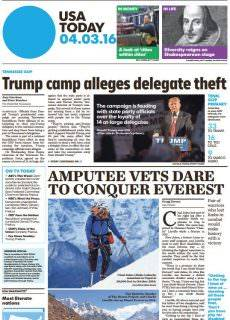 USA Today – April 3, 2016