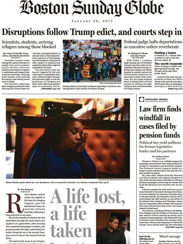 The Boston Globe – January 29, 2017