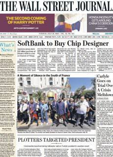 The Wall Street Journal Asia – July 19, 2016