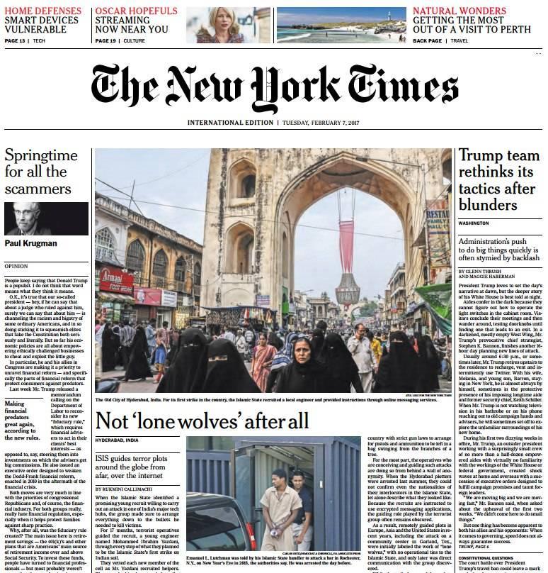 International New York Times 7 February 2017