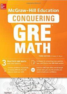 GRE (2016): McGraw-Hill Education Conquering GRE Math, 3Ed