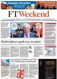 Financial Times Weekend Edition UK – June 11-12, 2016
