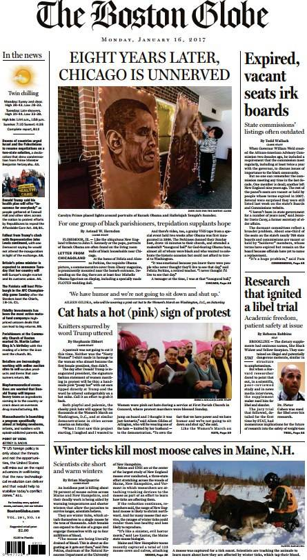 The Boston Globe – January 16, 2017