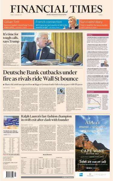 Financial Times Europe 3 February 2017
