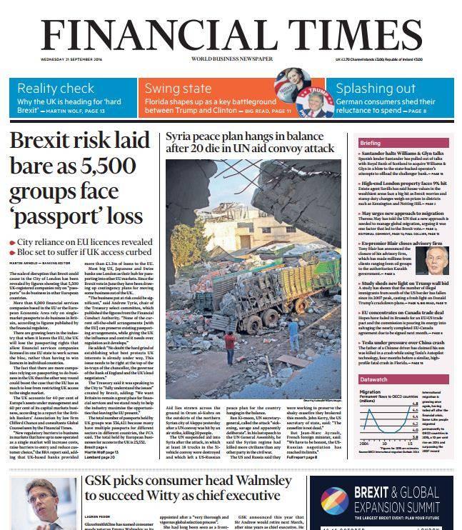 Financial Times UK – September 21, 2016