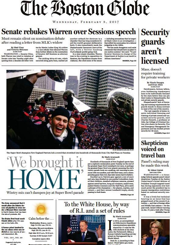 The Boston Globe February 8 2017