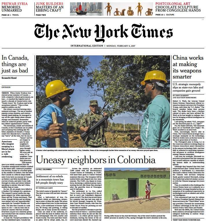 International New York Times 6 February 2017