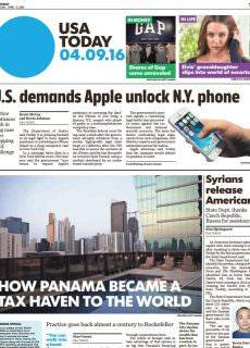 USA Today – April 9, 2016