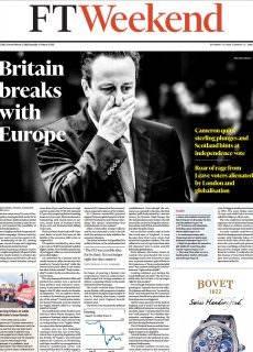 Financial Times Weekend Edition UK – June 25-26, 2016
