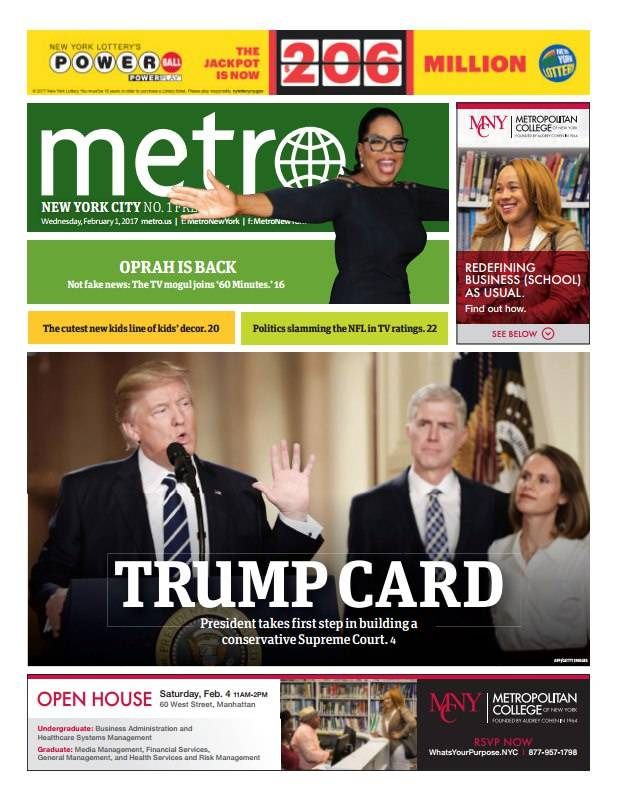 Metro New York February 1 2017