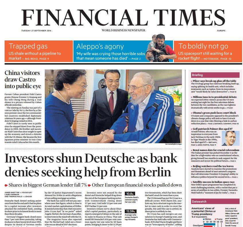 Financial Times – September 27 2016