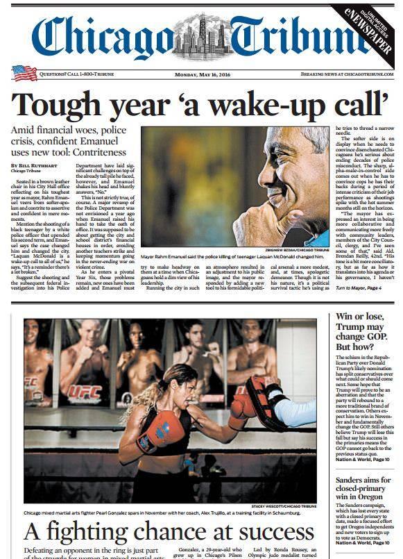 Chicago Tribune – May 16, 2016