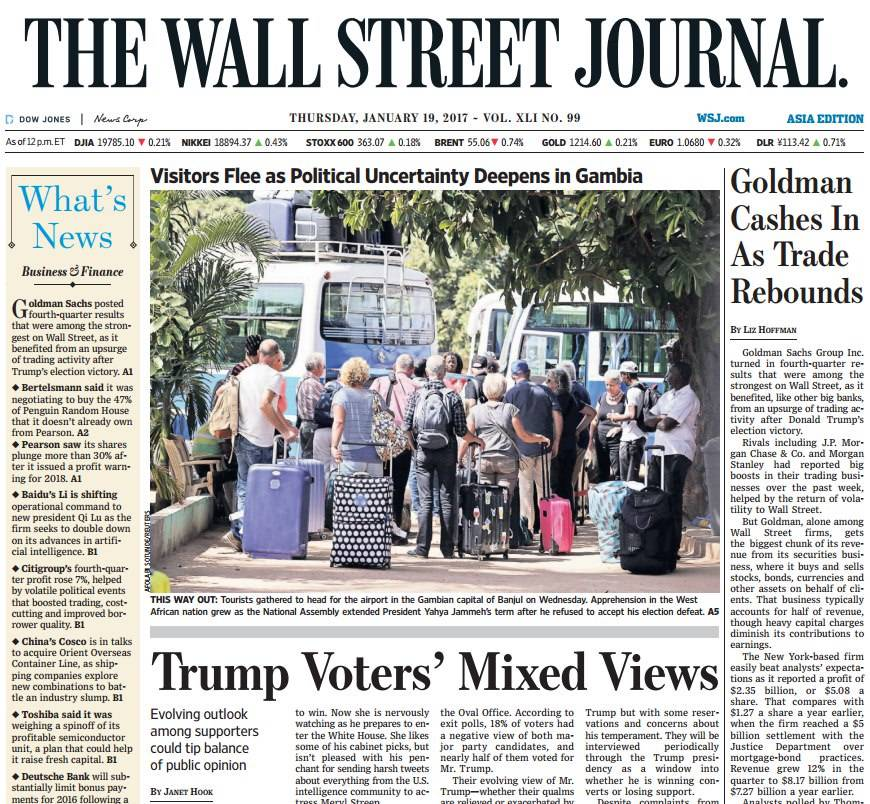 The Wall Street Journal Asia January 19 2017