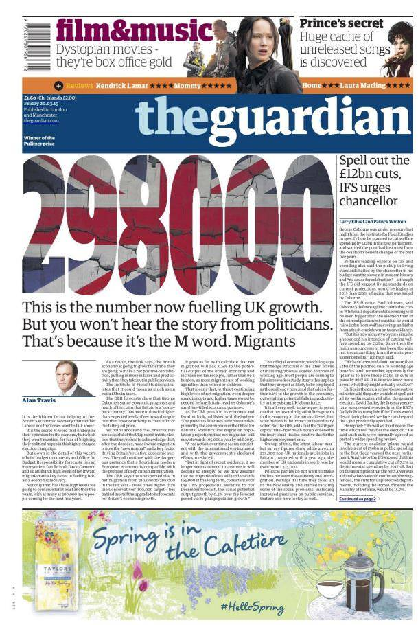 The Guardian UK – 20 March 2015