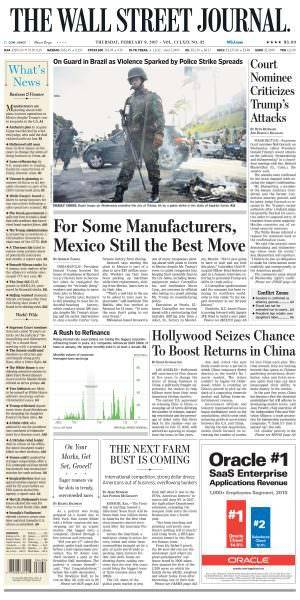 The Wall Street Journal February 09 2017