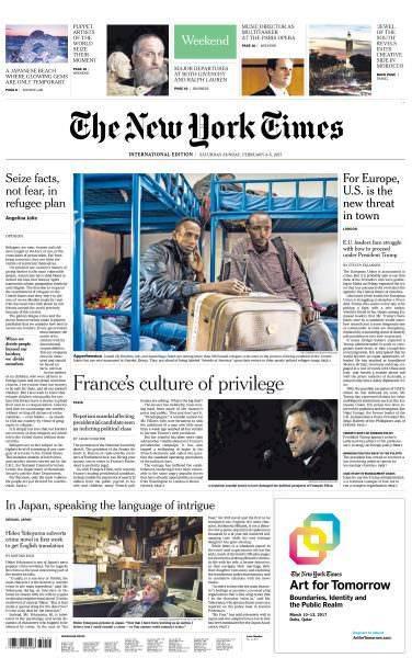 International New York Times – 4-5 February 2017