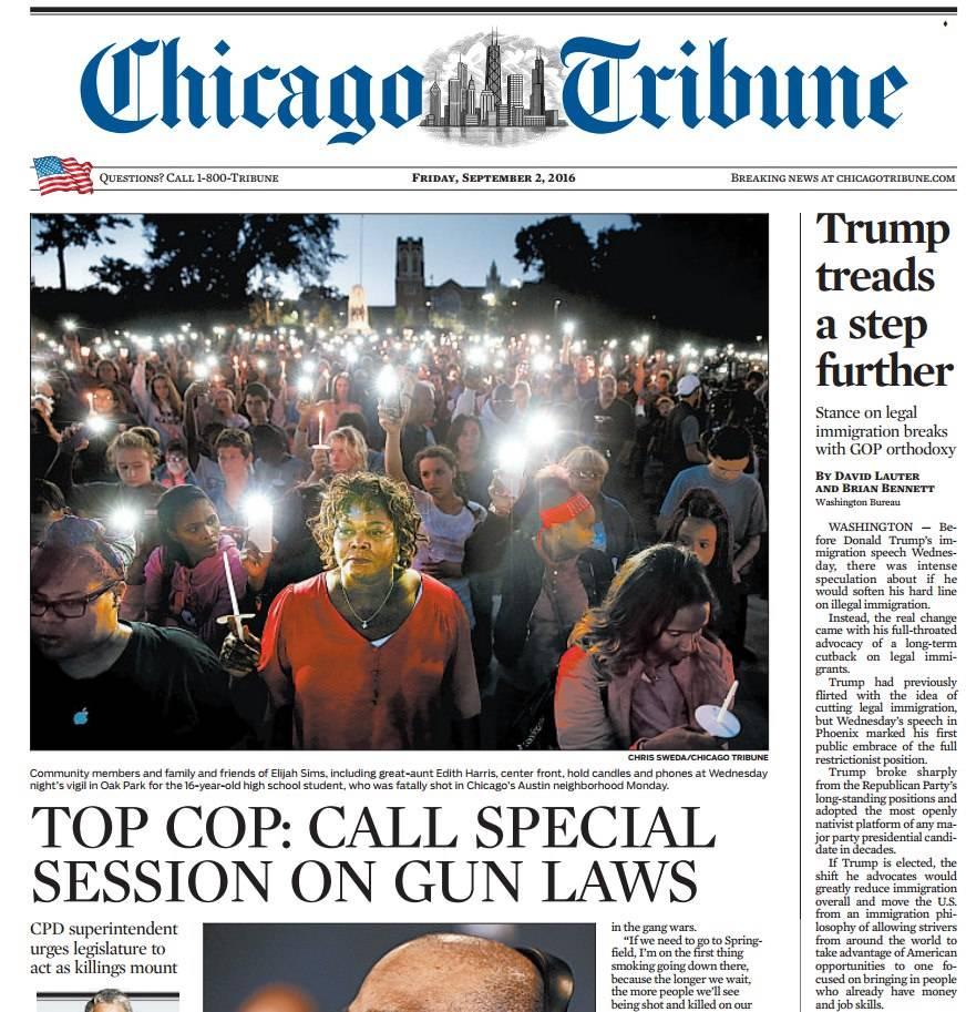 Chicago Tribune – September 2, 2016