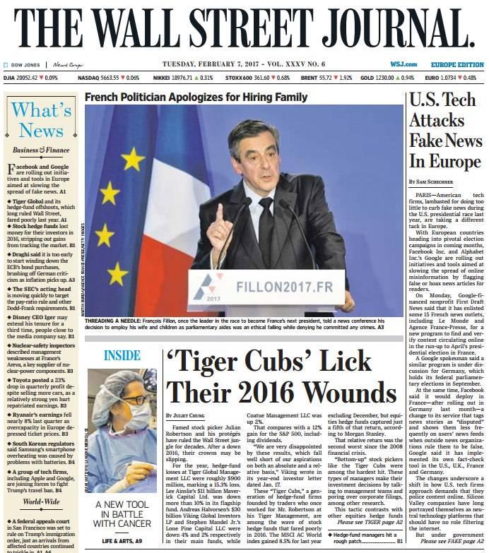 The Wall Street Journal Europe February 7 2017