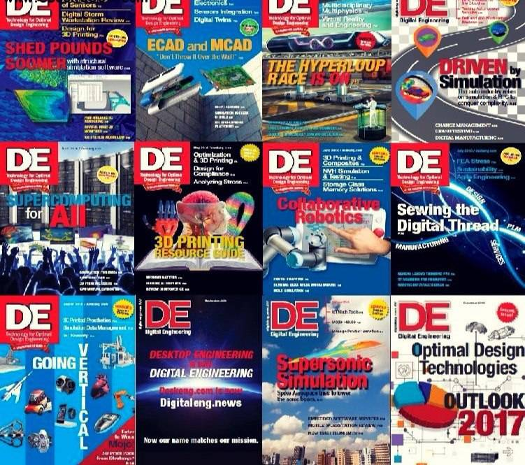 Digital Engineering (Desktop Engineering) 2016 Full Year Collection