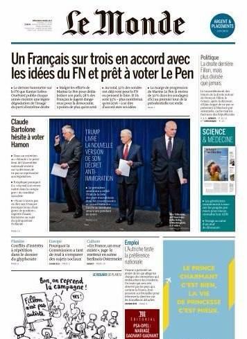Le Monde du Mercredi 8 Mars 2017