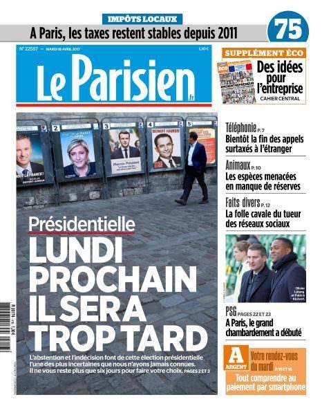 Le Parisien du Mardi 18 Avril 2017