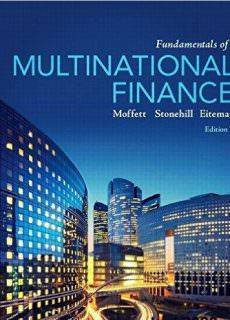 Fundamentals of Multinational Finance, 5th Edition