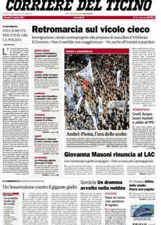 Corriere del Ticino – 27 Aprile 2017