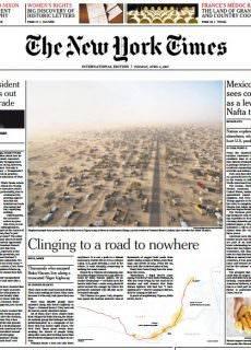 International New York Times 4 April
