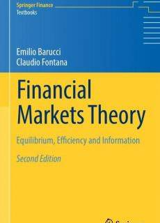 Financial Markets Theory Equilibrium, Efficiency and Information, Second Edition